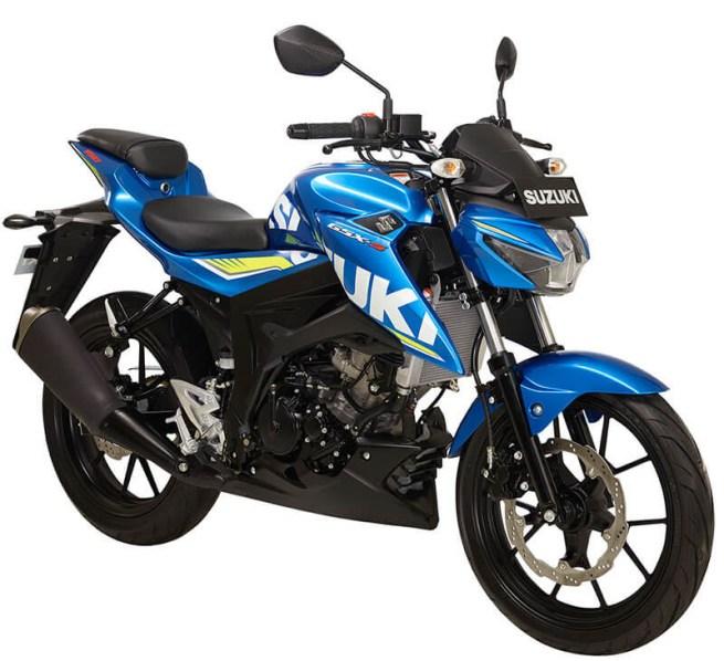 Suzuki GSX S150 warna metallic triton blue