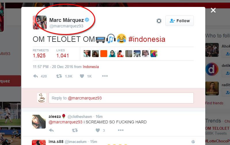 marc marquez : om telolet om