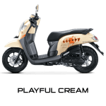 Honda Scoopy warna Playful Cream