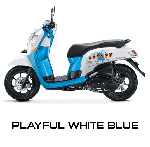 Honda Scoopy warna Playful White Blue