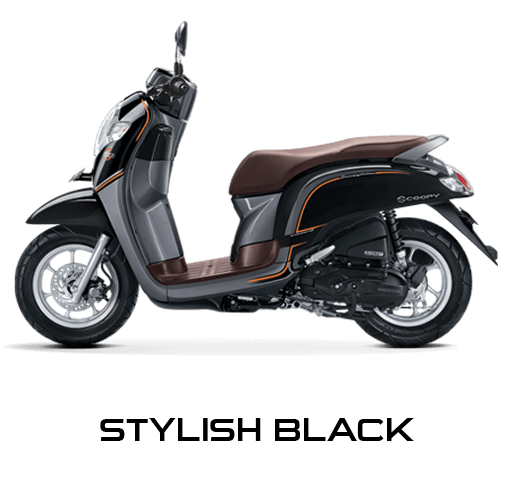 Honda Scoopy warna Stylish Black