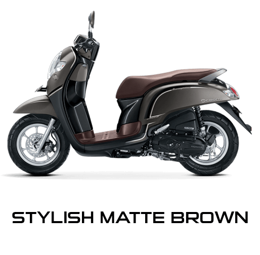 Honda Scoopy warna Stylish Matte Brown