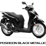 Honda SH150i warna Poseidon Black Metallic