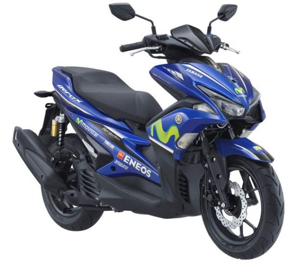 Yamaha Aerox 155 VVA warna Movistar MotoGP