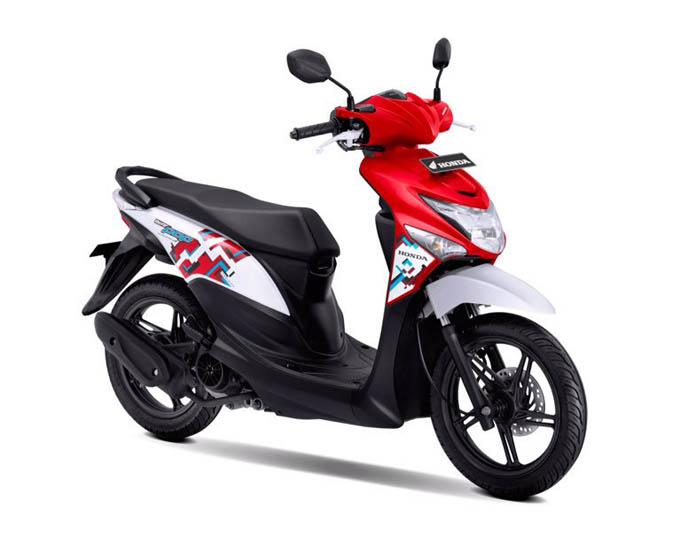 Honda Beat Pop Warna Groovy Red White (Merah Putih)