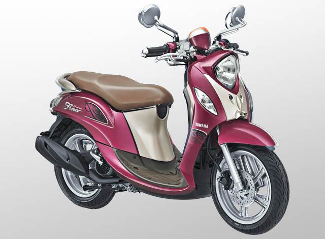 Yamaha Fino 125 Premium Warna Red Berry (Merah)