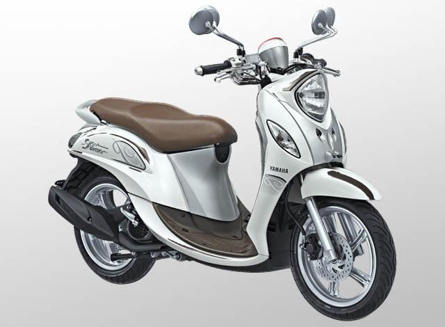 Yamaha Fino 125 Premium Warna White Latte (Putih)