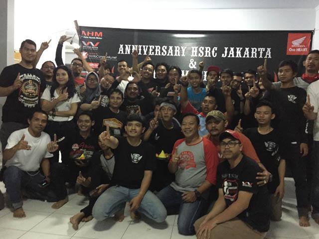 Foto Bersama Anggota Honda Spacy Riders Club (HSRC) Di Puncak Bogor