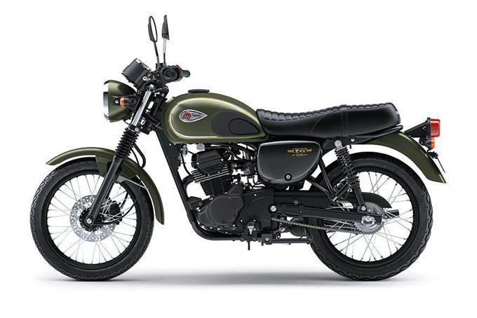 Kawasaki W175 Warna Metallic Matte Covert Green (Hijau)