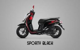 Honda Sccopy Warna Sporty Black