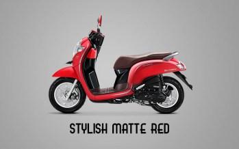 Honda Sccopy Warna Stylish Matte Red