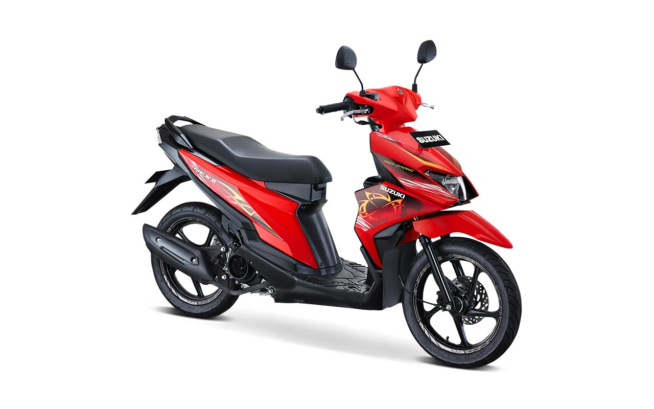 Suzuki Nex II Tipe Fancy Dynamic Warna Stronger Red