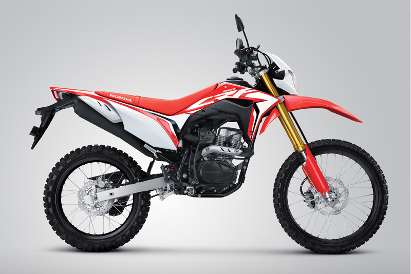 Honda CRF150L Warna Extreme Red