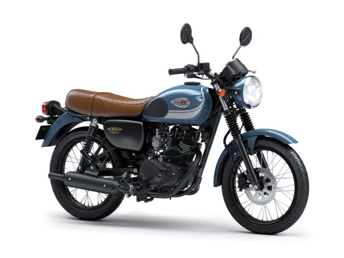 Kawasaki W175 Special Edition Warna Storm Cloud Blue (Biru Muda)
