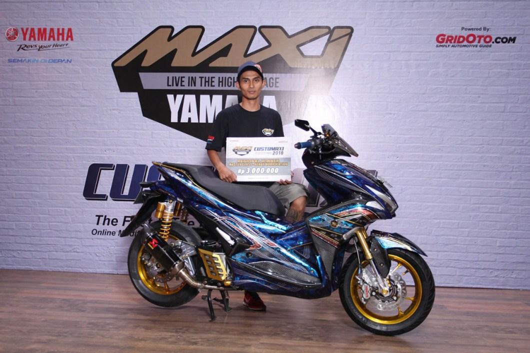 Pemenang CustoMAXI Yogyakarta Kategori Master Class Aerox