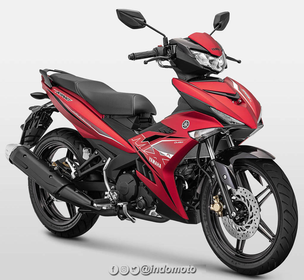 Yamaha MX King warna Matte Red (Merah)