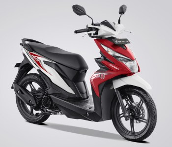 Honda BeAT eSP Warna Funk Red White