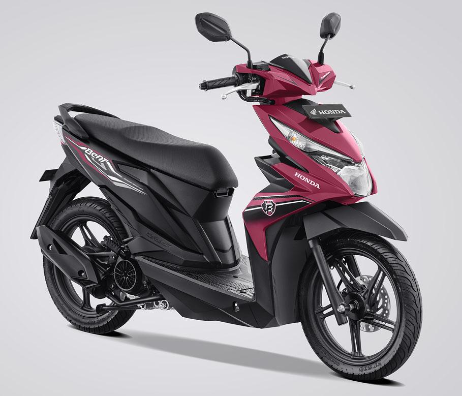 Honda BeAT eSP Warna Fusion Magenta Black