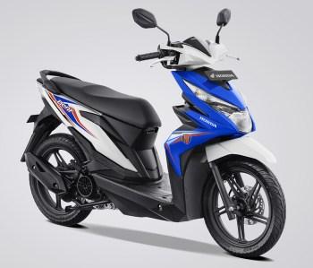 Honda BeAT eSP Warna Techno Blue White