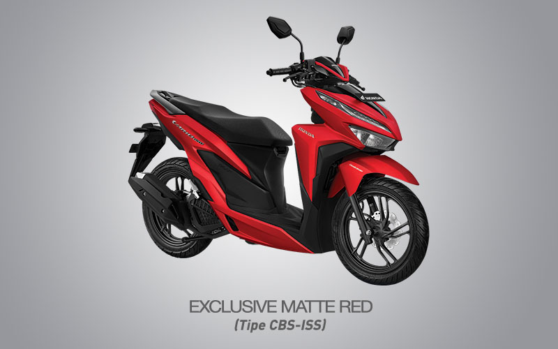 Honda Vario 150 Warna Exclusive Matte Red