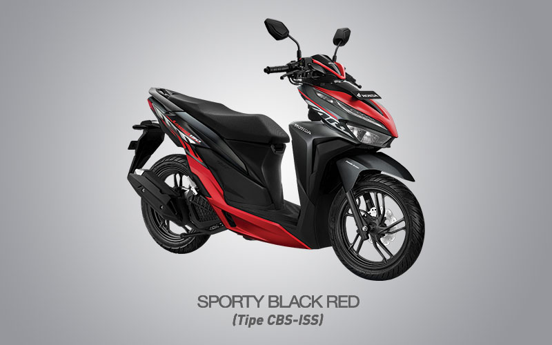 Honda Vario 150 Warna Sporty Black Red