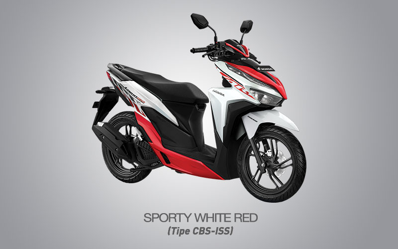 Honda Vario 150 Warna Sporty White Red