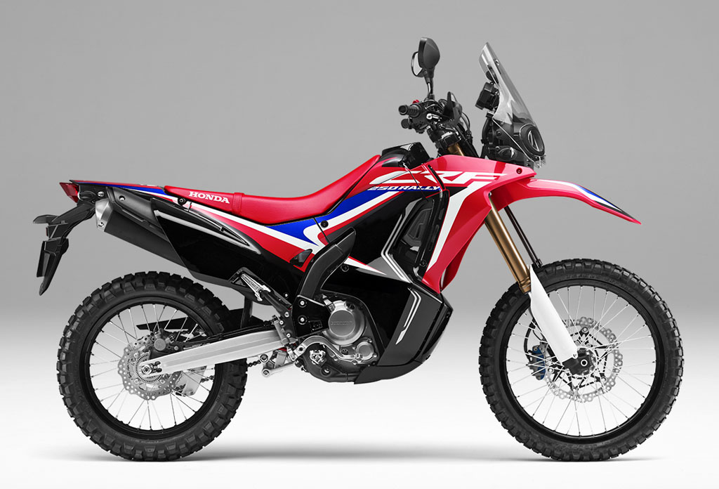 Honda CRF250 RALLY Warna Extreme Red