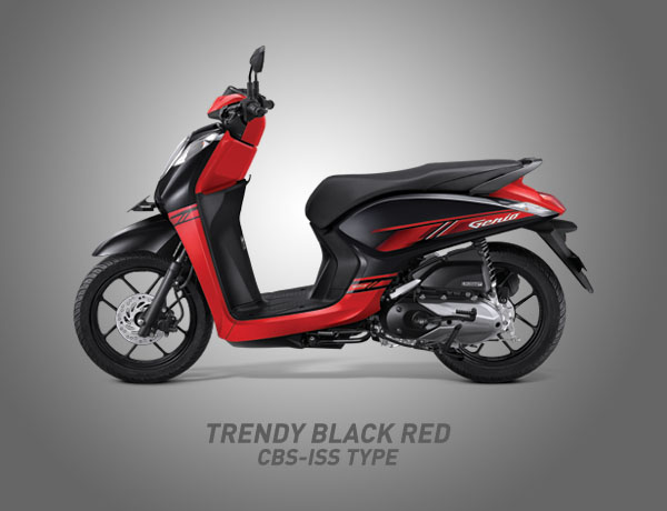 Honda Genio Warna Trendy Black Red