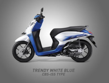 Honda Genio Warna Trendy White Blue