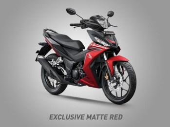 Honda Supra GTR150 Warna Exclusive Matte Red