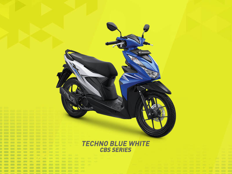 Techno White Blue
