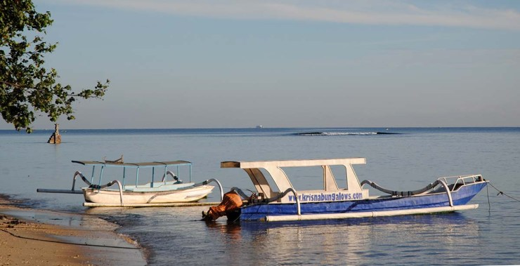 boat for snorkelling trips in Sekotong
