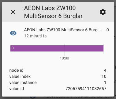 Aeotec Multisensor Gen6 - Entités - Sensoret cambrioleur