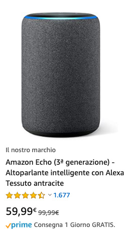 Amazon Echo 3gen - promo 20200520