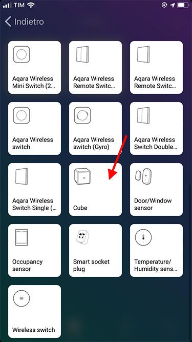 App Homey - Xiaomi - Adding device - Xiaomi Cube 1