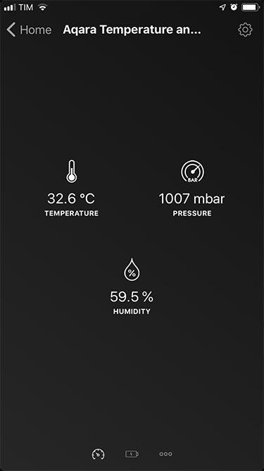 App Homey – Xiaomi – Sensore termico - Dettaglio