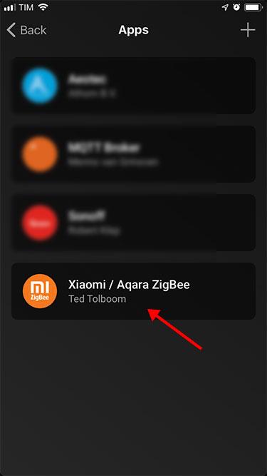 App Homey - Xiaomi - Configurazione