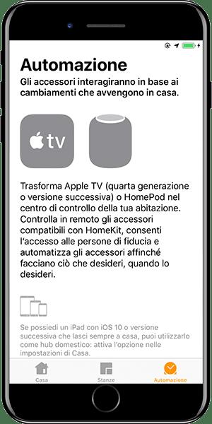 Apple Casa Automazioni HUB richiesto