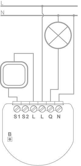 FIBARO Single Switch - Schema Connessioni 2