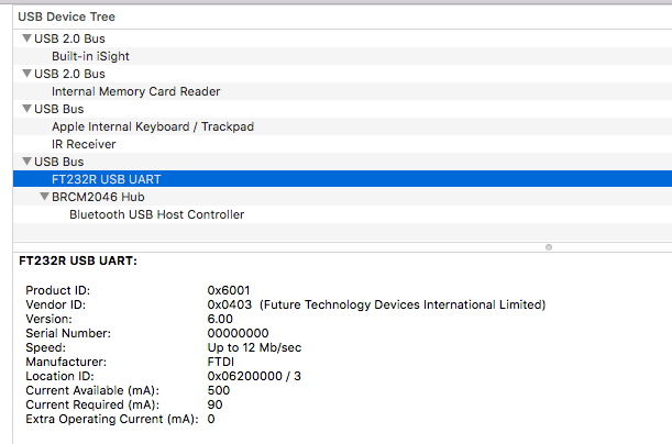 FT232R ein Mac