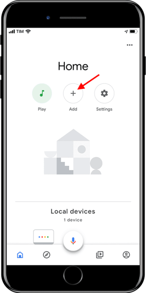 Google Home - Add device