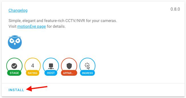 HASSIO Add-on - motionEye - Install