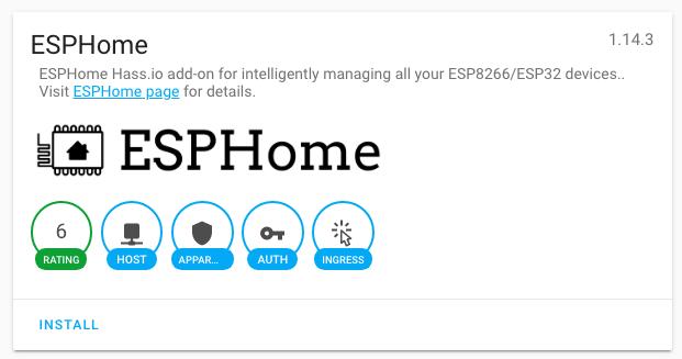 HASSIO - ESPHome add-on