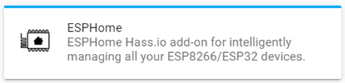 Home Assistant HASSIO - ESPHome Add-on