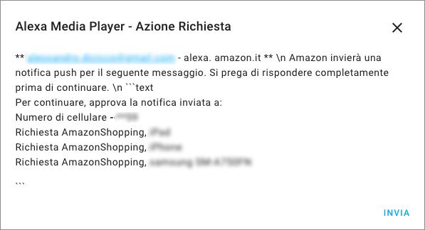 Home Assistant - Integrazione Alexa Media Player - Step 3a