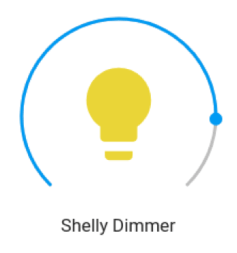 Home Assistant - Shelly Dimmer - via MQTT template