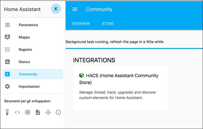 Installare HACS (Home Assistant Community Store) sul proprio HUB