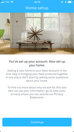 NEST App - Screen 1