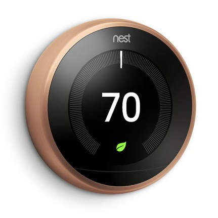 NEST Learning Thermostat V3 - Lateral - Copper