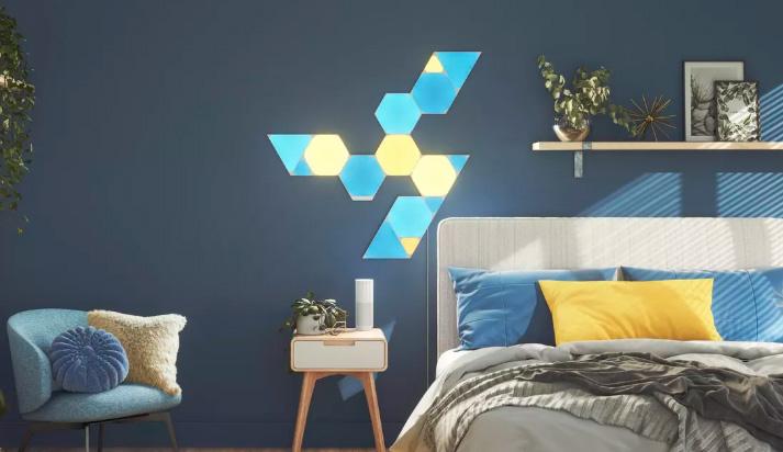 Nanoleaf Shapes - mix su muro